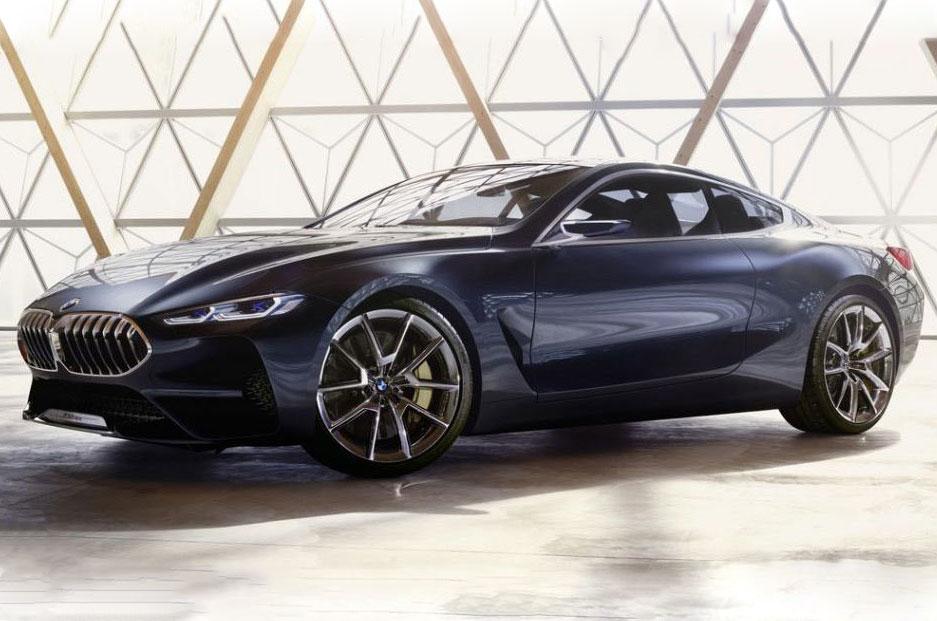 BMW 8 Series Concept протекает онлайн перед озером Комо