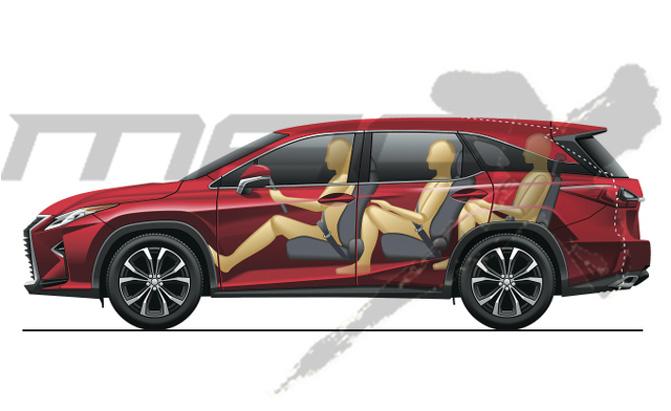 Toyota готовит октябрь 2017 года Открытие трехстрочного 2018 года Lexus RX