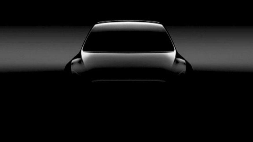 Tesla Teases Предстоящая модель Y;