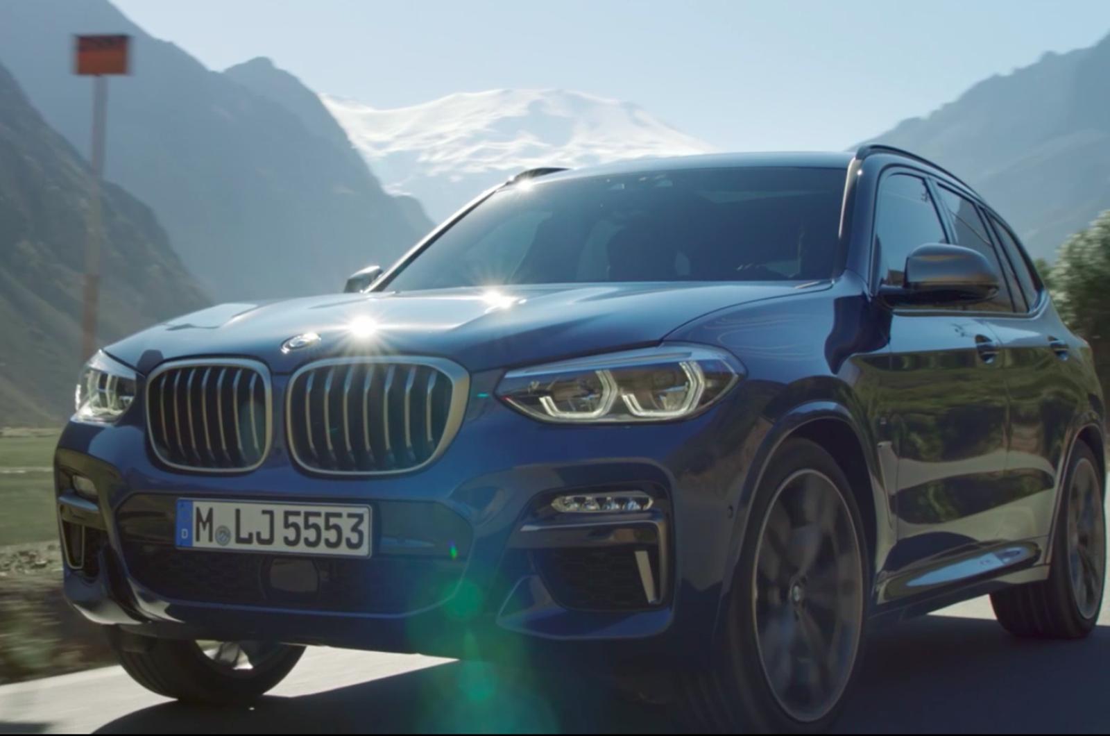 2017 BMW X3: изображения, видео и детали течет впереди официального показа