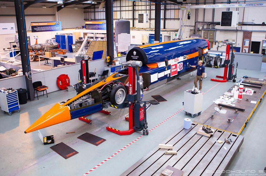 1000mph Bloodhound SSC: первое испытание реактивного двигателя Eurofighter завершено