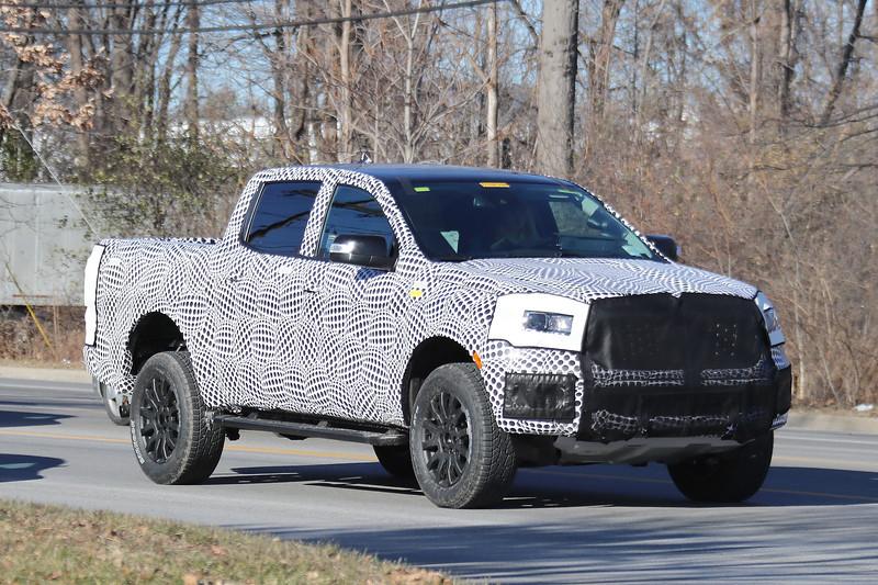 Spied: 2019 Ford Ranger FX4 в производственной одежде